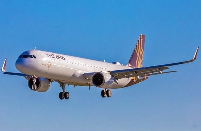 Vistara odebrała pierwszego airbusa A321neo z rozkładanymi fotelami klasy biznes