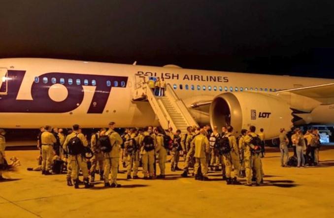 Dreamliner PLL LOT wylądował z misją ratunkową w Bejrucie