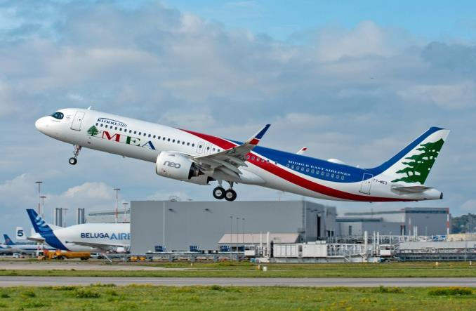 Airbus MSN 10000 z rodziny A320 dla Middle East Airlines