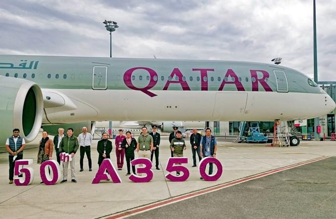 Qatar Airways: Dostawa kolejnych trzech A350. Ich liczba przekroczyła 50 maszyn