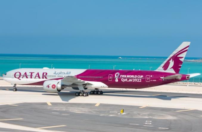 Qatar Airways zaprezentowały malowanie mundialowego B777-300ER