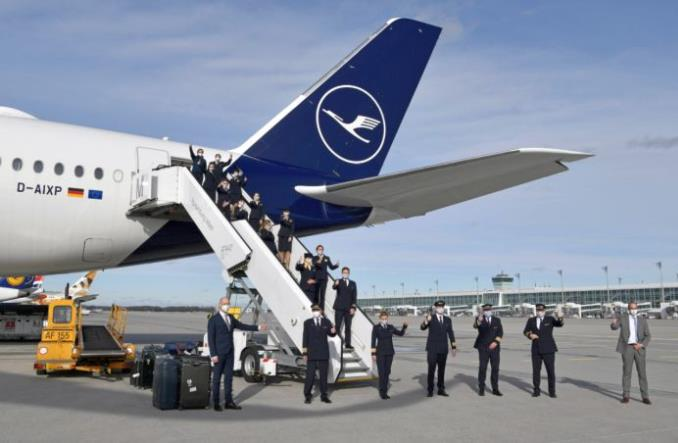A350 Lufthansy wrócił z Falklandów do Monachium i ustanowił kolejny rekord