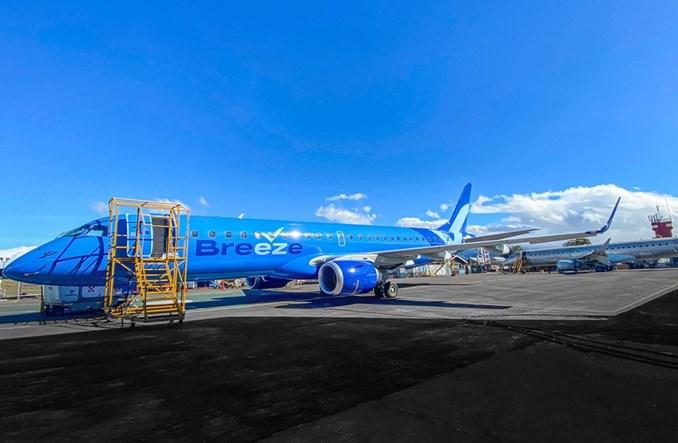 NAC: Breeze Airways odebrały pierwszego embraera E190