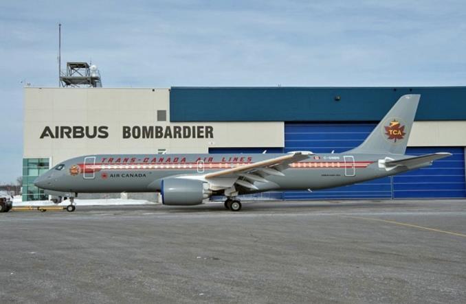 Air Canada: Nowy A220 w retro barwach Trans-Canada Air Lines