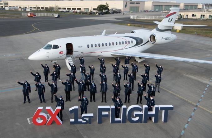 Dassault Aviation: Pierwszy lot techniczny Falcona 6X (Zdjęcia)