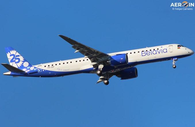 Belavia: Dostawa drugiego embraera E195-E2 w specjalnym malowaniu na 25 lat linii (Zdjęcia)