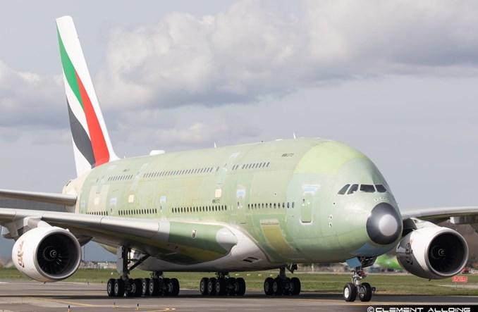 Ostatni Airbus A380 już po pierwszym uruchomieniu silników. Dostawa do Emirates w drugiej połowie br.