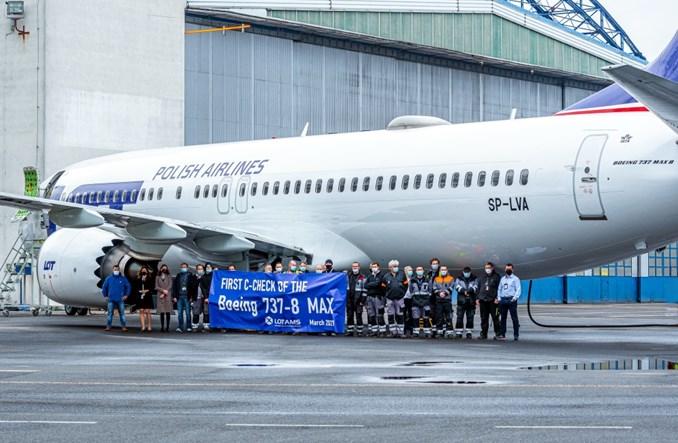 LOTAMS: Pierwszy przegląd obsługi Boeinga 737 MAX 8 PLL LOT