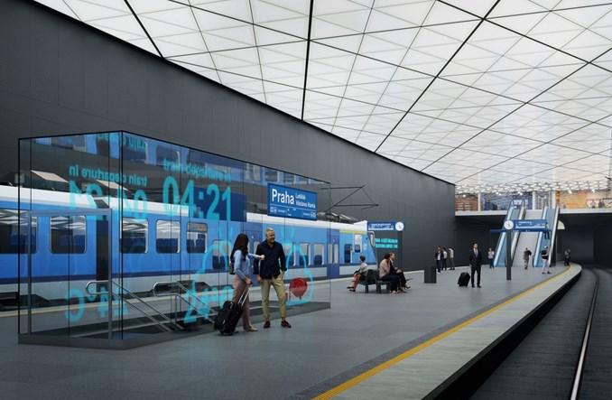 Koleją do podziemnej stacji przy lotnisku w Pradze. Przetarg na dokumentację [wizualizacje]
