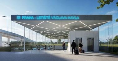 Praga: Koleją na nową stację na lotnisku w 2029 roku. Szeroki zakres prac z tunelem