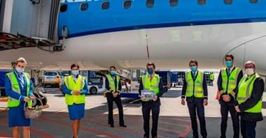 Tulipany na lotnisku Chopina. 65 lat lotów KLM między Polską i Holandią