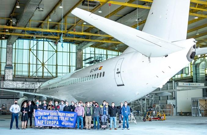 LOTAMS wykonuje przegląd zdawczy B737 NG dla Air Europy