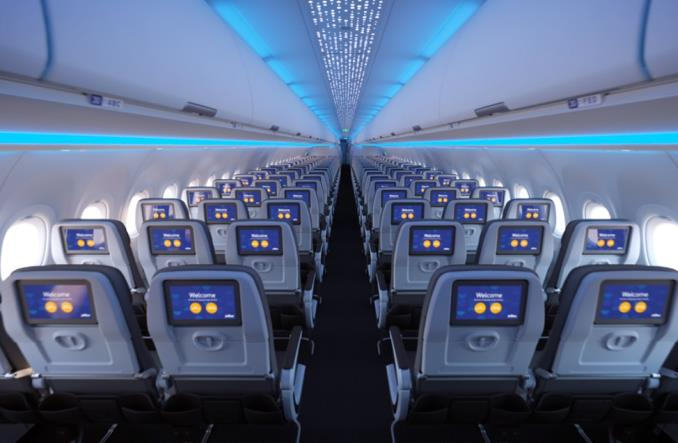 JetBlue Airways odebrały pierwszego airbusa A321LR z nowym wnętrzem kabiny Airspace (Zdjęcia)