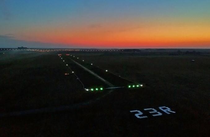 Lotnisko Leszno ma już podświetlany pas. Lądowanie ze światłami pasa po wysłaniu SMS-a