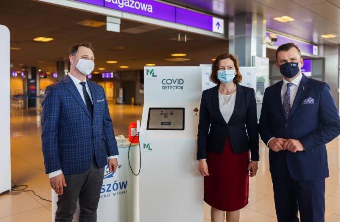 Innowacyjna technologia wykrywania zakażeń na lotnisku w Rzeszowie