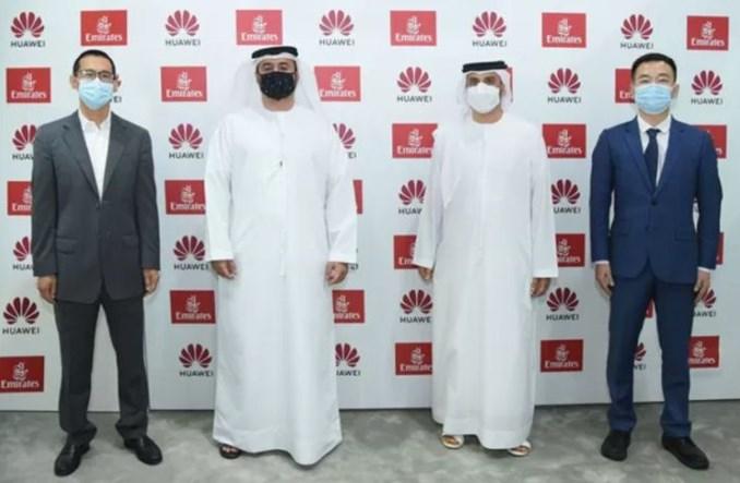Emirates podpisały strategiczne porozumienie z Huawei