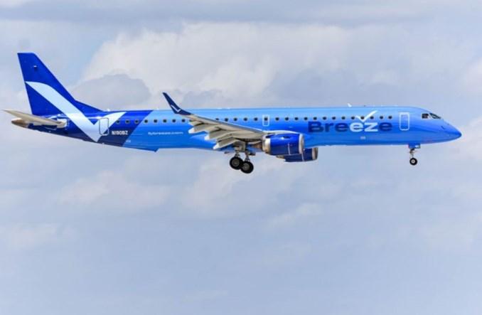 Breeze Airways uzyskały AOC i rozpoczną trasą Tampa – Charleston