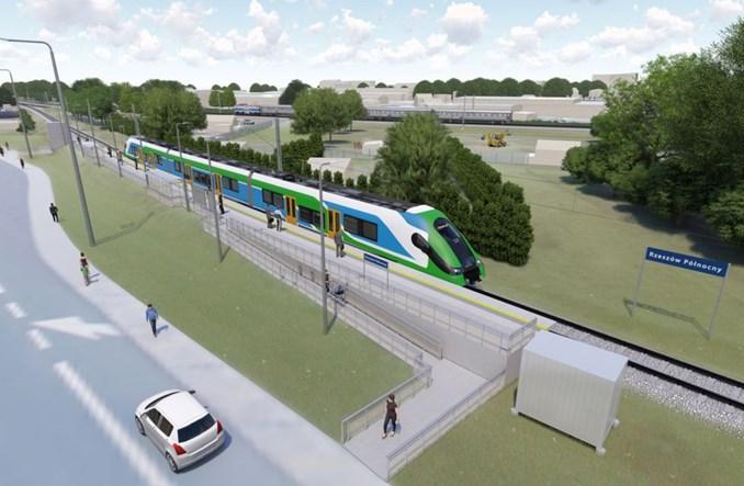 Rzeszów: Kolej aglomeracyjna dotrze na lotnisko [wizualizacje]
