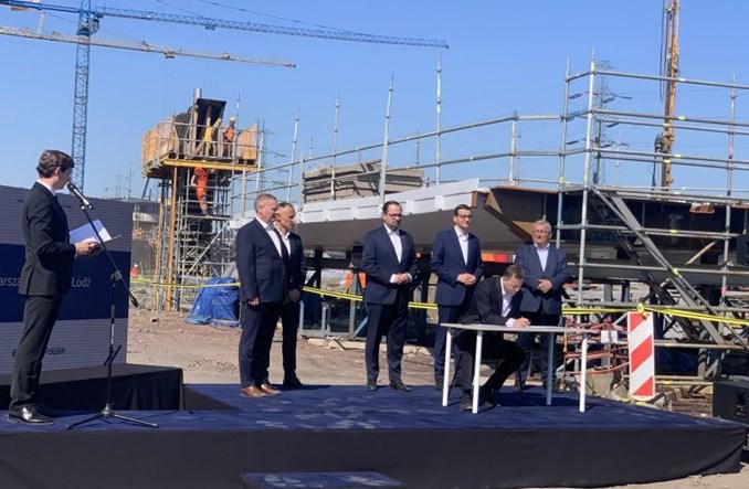 Podpisano umowę w sprawie linii dużych prędkości Warszawa – CPK – Łódź