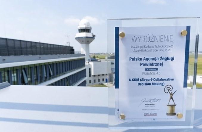 PAŻP i Lotnisko Chopina wyróżnione za system A-CDM