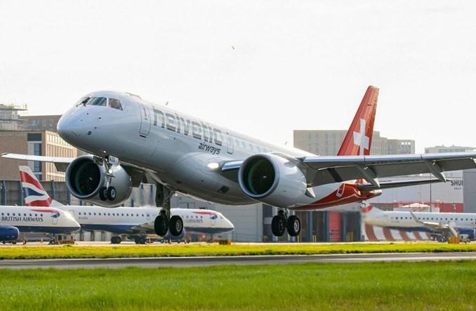 Embraer E190-E2 wykonał pierwszy komercyjny lot na londyńskie City Airport
