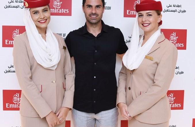 Wizyta trenera Arsenalu w pawilonie Emirates na Expo 2020